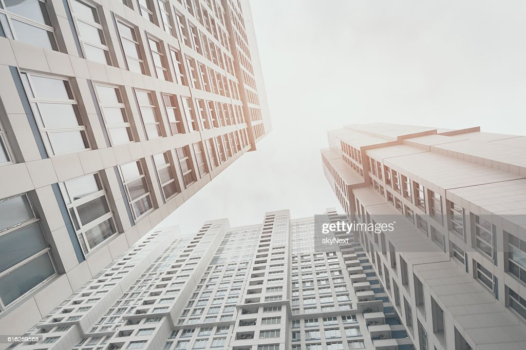 Residential skyscraper apartment building in Moscow : Stock Photo