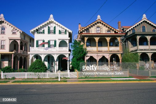 Residential street in Cape May, NJ : Stock Photo