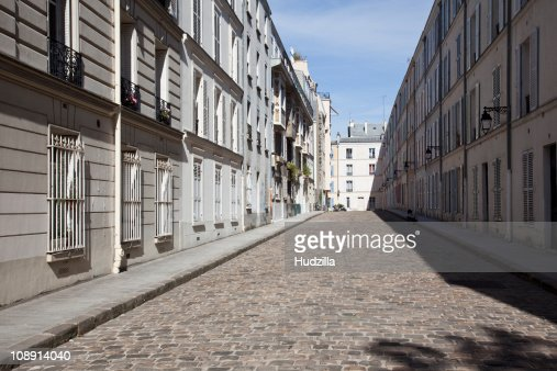 A residential street, Paris, France