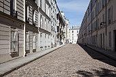 A residential street, Paris, France