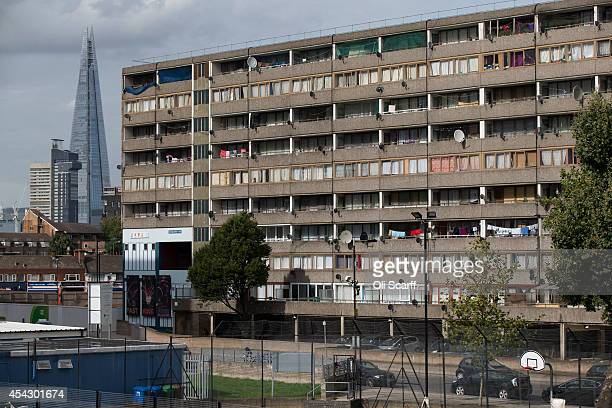 A residential tower block in an area of Southwark with a high concentration of social housing on August 28 2014 in London England A report from the...