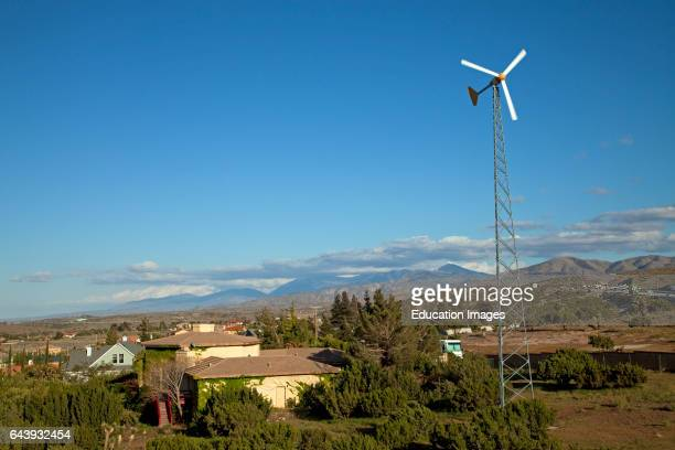 Residential wind turbine Palmdale Los Angeles County California USA