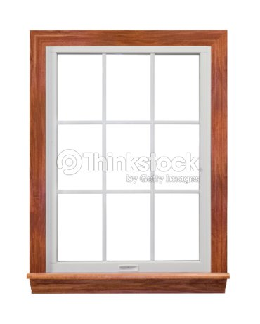 a residential wooden window frame stock photo - Wooden Window Frame