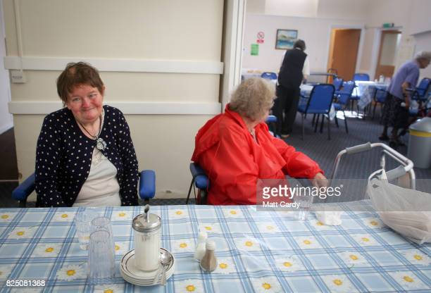 Residents at the Donald Thomas Centre an elderly day care centre which has been under threat of closure since its funding was slashed by the council...