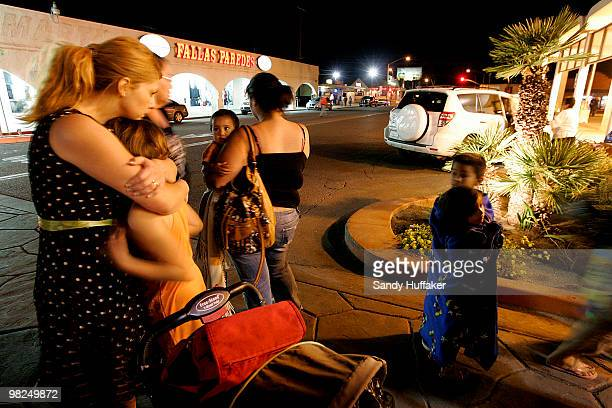 Residents from Mexicali Mexico seek refuge after the electricity was out in Mexicali after a 72 magnitude earthquake struck the area April 4 2010 in...