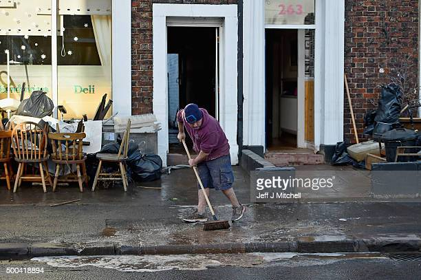 Residents in Warwick road start to empty their possessions from their homes after Storm Desmond caused flooding on December 8 2015 in Carlisle...