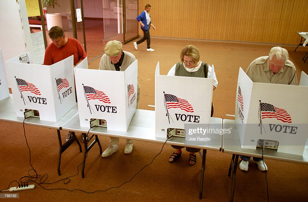 Residents of El Paso Texas cast their ballot for president of the United States in early voting October 23 2000 The state of Texas has early voting...