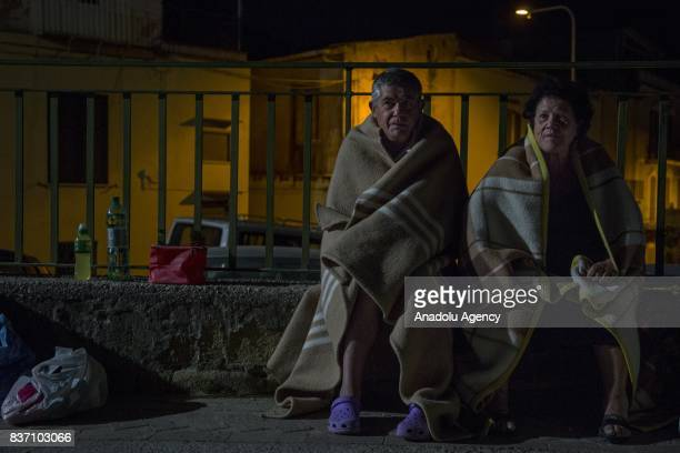 Residents of Ischia Island those affected by the earthquake in Casamicciola Terme spend the night outside as a precaution after 40magnitude richter...
