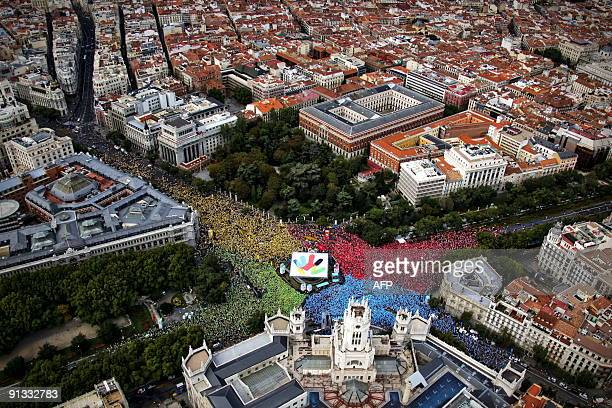 Residents of Madrid participate in an event in Madrid on September 27 2009 in support of Madrid's 2016 Olympic Games bid An IOC meeting will take...