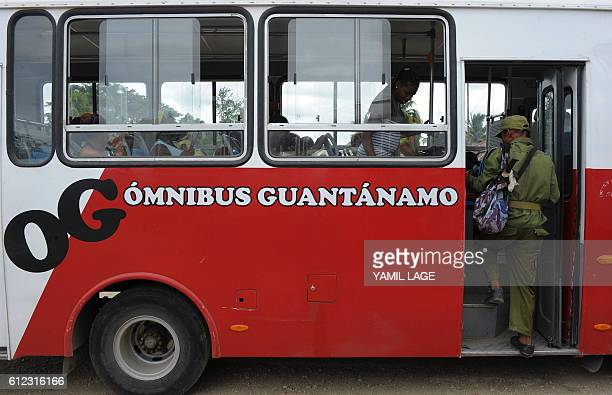 Residents of the Cuban community of Cecilia in Guantanamo Province are evacuated on October 3 2016 as Hurricane Matthew claimed its first two victims...