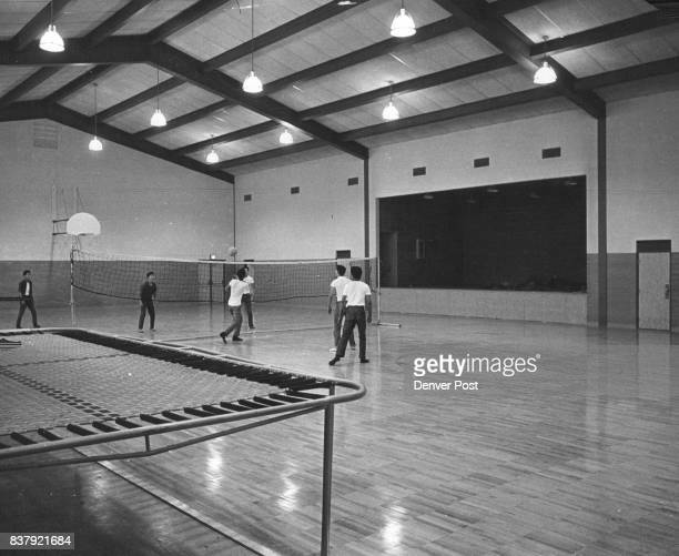 Residents of the home enjoy a game of Volleyball in the gym completed in October 1961 for $184000 as part of the new Recreation Center Credit Denver...