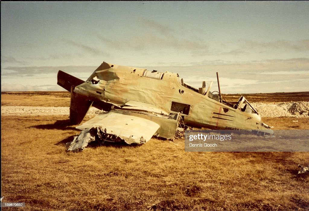 CONTENT] Residue of war at Stanley Airfield. October 1983. FMA Pucara