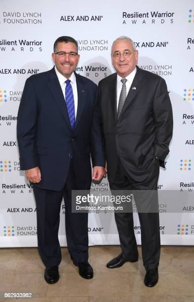 Resilient Warrior Award Honorees Founder of Boulder Crest Retreat for Wounded Warriors Ken Falke and Major General Stephen T Rippe attend 'Change...