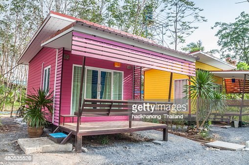 Resort bungalow in Thailand : Stock Photo