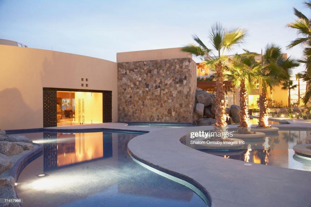 Resort hotel pool : Stock Photo