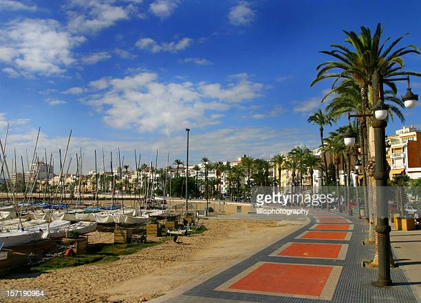Resort Town Beach Boats  Barcelona