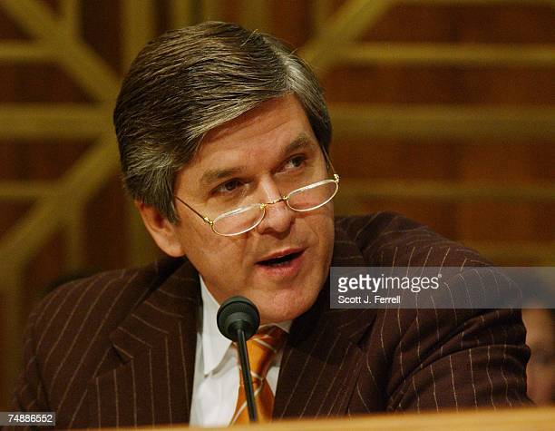 RESOURCESSen Gordon H Smith ROre during the Senate Energy and Natural Resources Committee hearing with Secretary of the Interior Gale A Norton on the...
