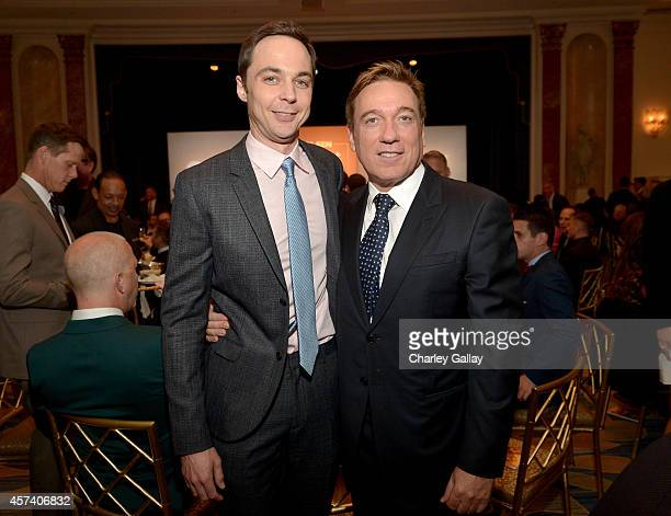 Respect Honorary CoChair Jim Parsons and agent Kevin Huvane attend the 10th annual GLSEN Respect Awards at the Regent Beverly Wilshire Hotel on...