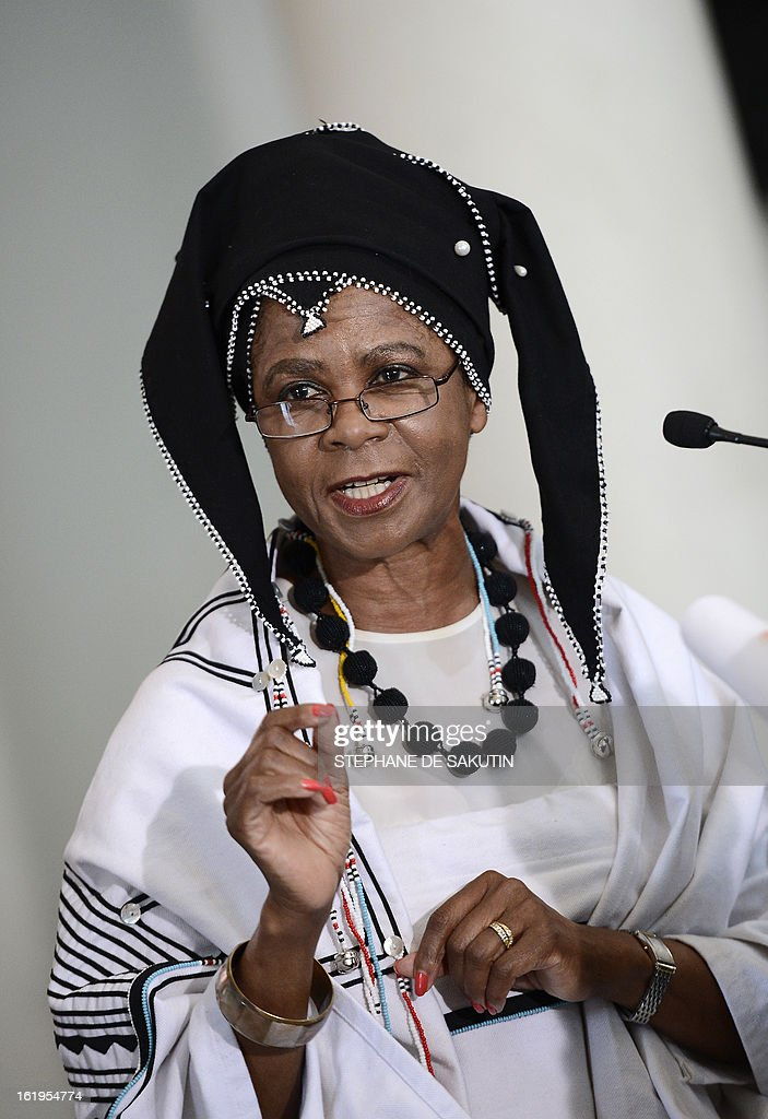 Respected businesswoman and anti-apartheid activist Mamphela Ramphele delivers a speech on February 18, 2013 at the Women's Gaol on Constitution Hill in Johannesburg to launch a political party platform to challenge the ruling African National Congress (ANC). The former World Bank managing director and trained medical doctor, Ramphele has been vocal in criticising the ANC, which dominates politics. She called for profound economic restructuring following months of deadly wage-strikes in the mine and agriculture sectors. The party will contest the 2014 national elections.