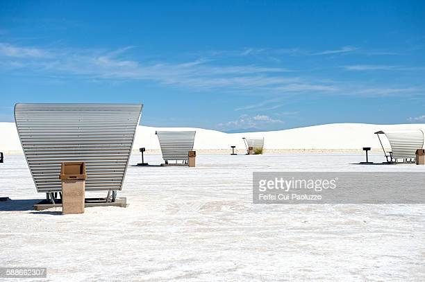 Rest area at White Sands National Monument