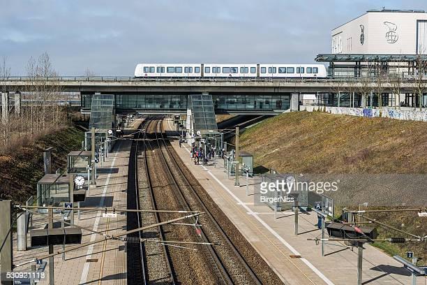 Ørestad Train Station, Copenhagen, Denmark
