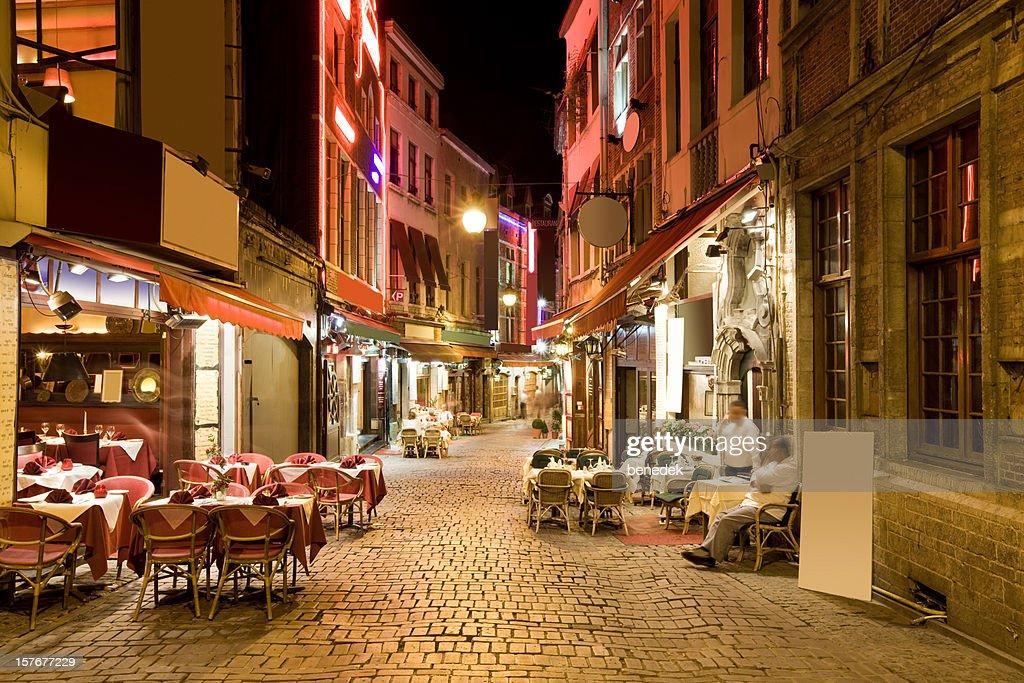 Restaurant Alley in Brussels, Belgium
