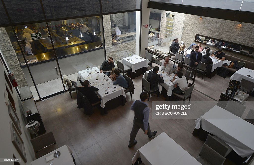 Restaurant Kitchen View restaurant area and kitchen view of the central restaurant in the
