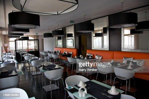restaurant at international design hotel lisbon portugal stock photo getty images. Black Bedroom Furniture Sets. Home Design Ideas