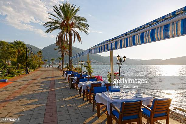 Restaurant at the promenade, Fethiye, Mugla Province, Lycian Coast, Aegean, Turkey