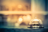 Restaurant bell vintage with bokehRestaurant bell with bokehRestaurant bell vintage with bokeh
