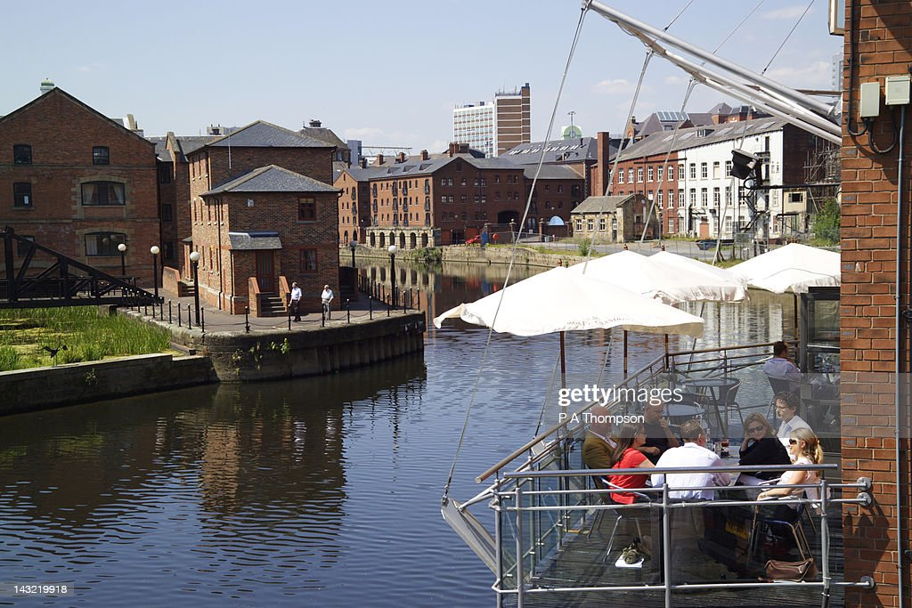 Restaurant, Brewery Wharf, Leeds, Yorkshire, England : Stock Photo