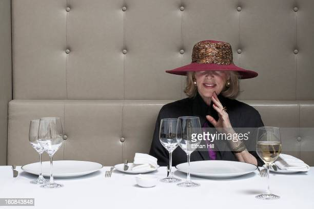 Restaurant critic and author Gael Greene photographed for New York Times on November 25 2008 in New York City