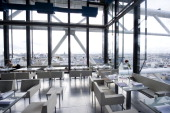 Restaurant Georges in Paris France on November 7 2013 Restaurant Le Georges is one of the two trendy Parisian restaurants belonging to Thierry and...