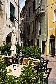 Restaurant in Antique Alley. Color Image