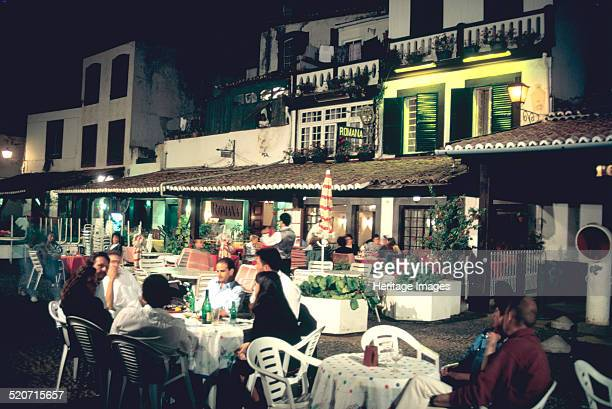 Restaurant in the old town Funchal Madeira Portugal