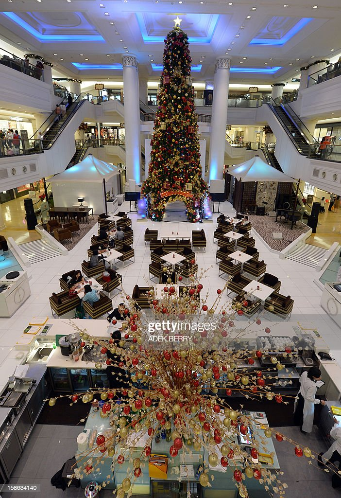 A restaurant inside a shopping mall is decorated with Christmas ornaments in Jakarta on December 22, 2012. Many shopping malls and business centres in Indonesia, the largest Muslim-majority nation in the world, are decorated with Christmas ornaments to welcome Christmas and New Years.