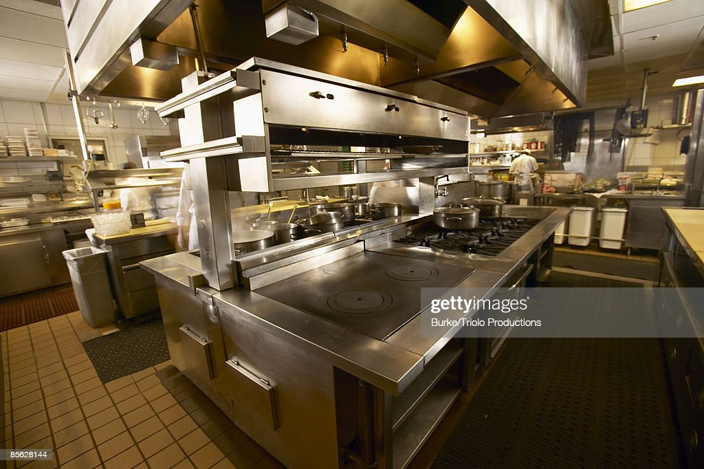 Restaurant kitchen : Stock Photo