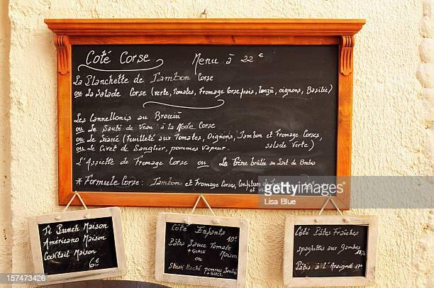 Restaurant-Speisekarte