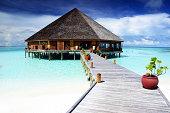 Restaurant on the Maldives