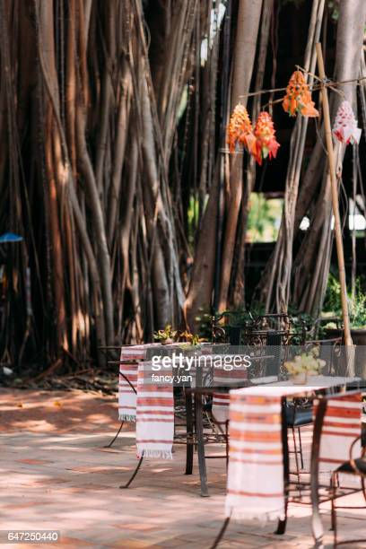 restaurant outdoors under a tree