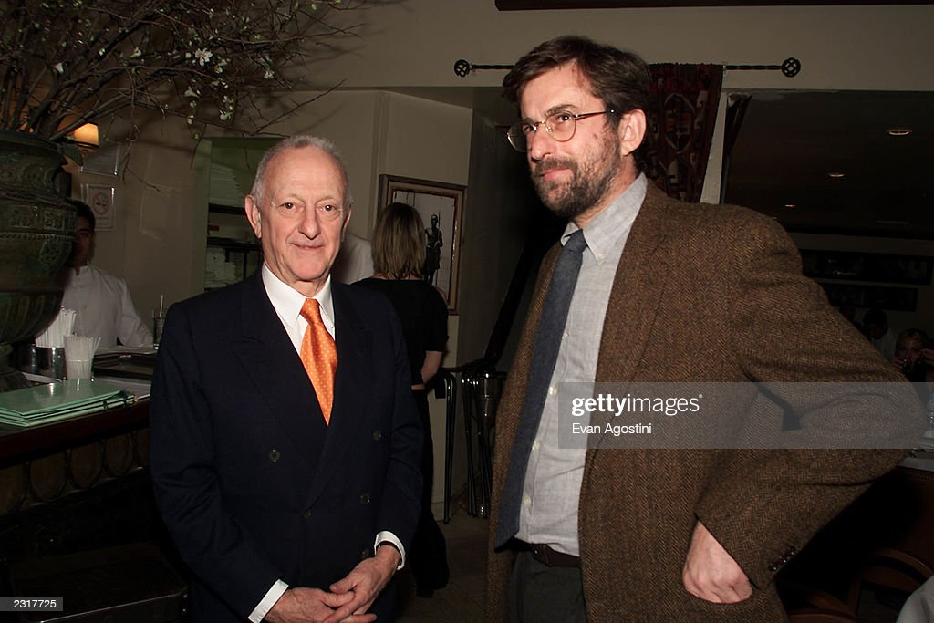 Restaurant owner Arrigo Cipriani with Italian director Nanni Moretti at the screening afterparty for 'The Son's Room' at Cipriani Downtown in New...