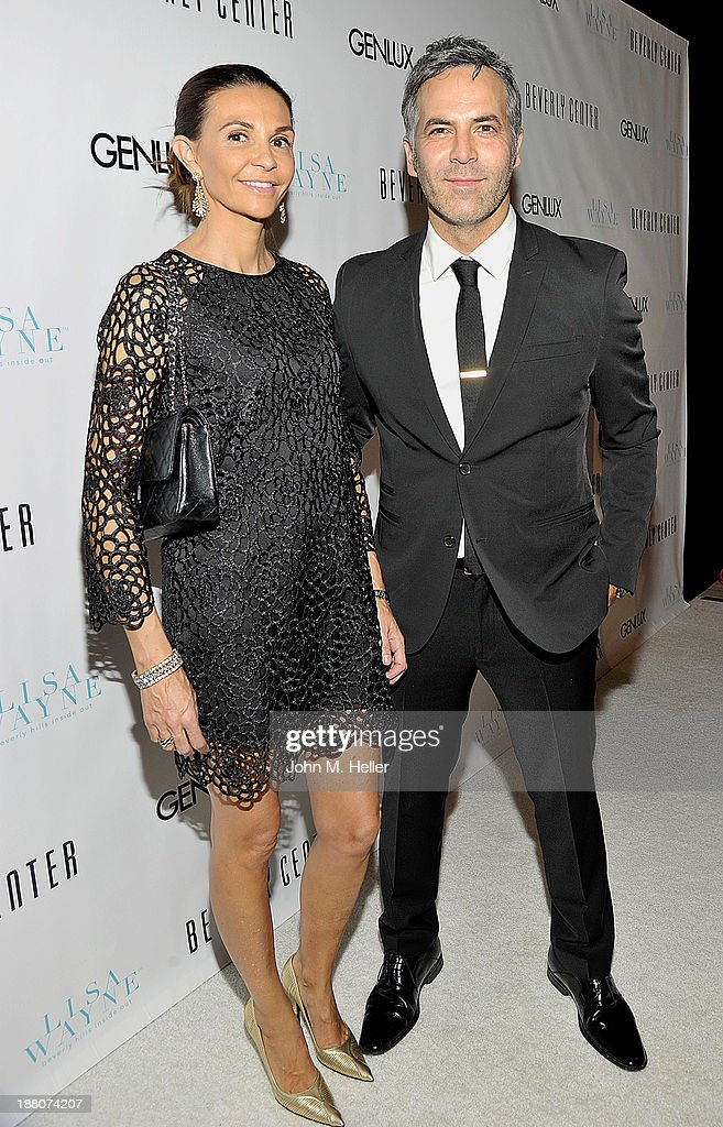 Restaurant owner Nathalia Zapata and Guillermo Zapata sattend the GENLUX magazine Launch Event Party at The Beverly Center on November 14, 2013 in Los Angeles, California.