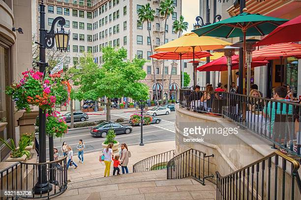 Restaurant Patio with People in Beverly Hills Los Angeles California