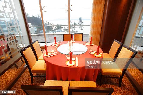 Restaurant Table with Built-in Lazy Susan