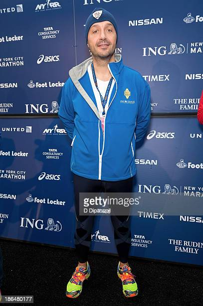 Restauranteur Joe Bastianich attends the 2013 ING NYC Marathon press conference at the ING New York City Marathon Media Center on October 31 2013 in...