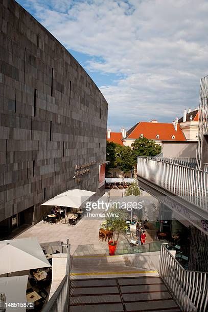 Restaurants in museums quarter.