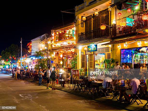 Restaurants in the Old Town of Hoi An, Vietnam