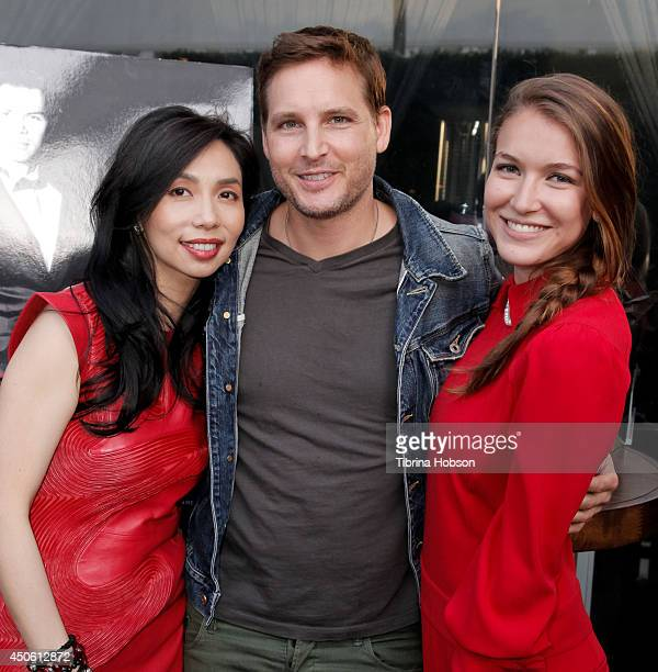 Restaurateur and founder of Crustacean Elizabeth An Peter Facinelli and Nathalia Ramos attend the 'Red Hour Live Music Series' at Crustacean on June...