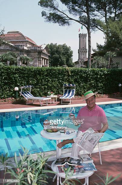 Restaurateur Sirio Maccioni at his villa in Montecatini Italy July 1991