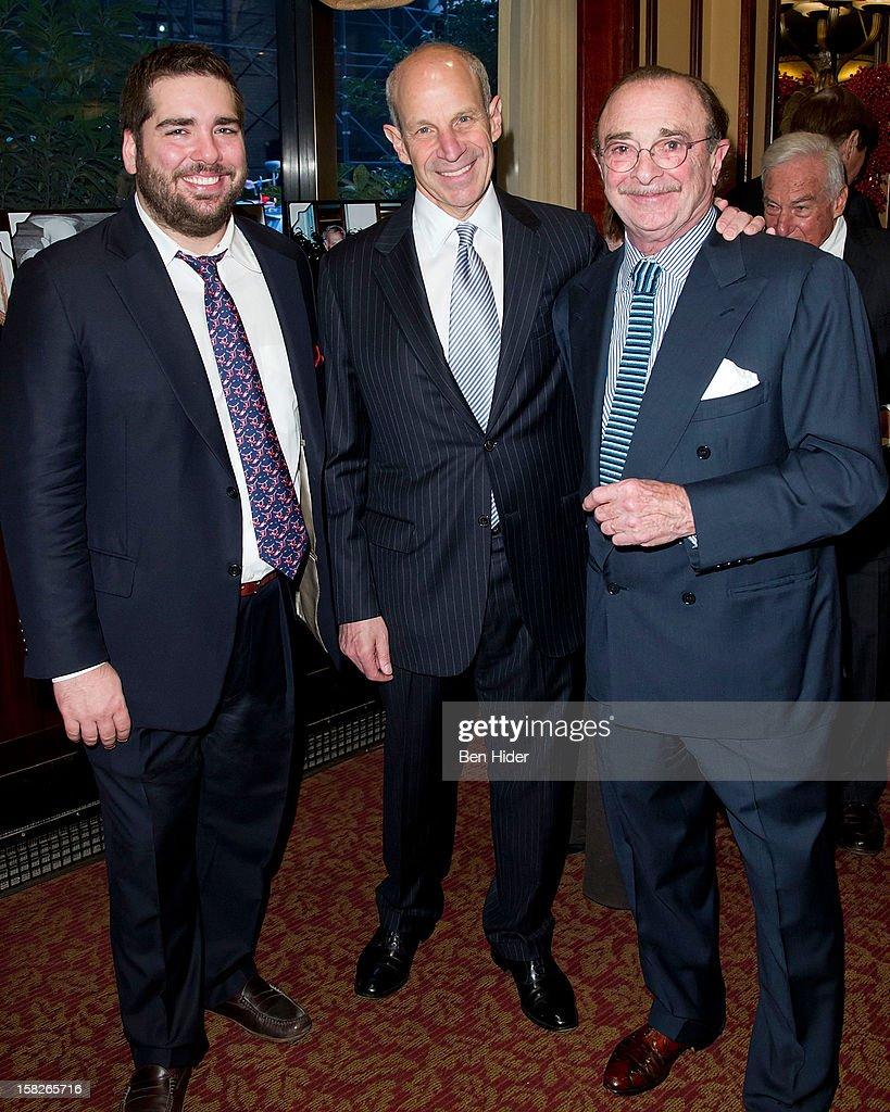 Restaurateurs Michael Stillman, Jonathan M. Tisch and Alan Stillman attends Loews Regency Hotel Power Breakfast Event at the Loews Regency Hotel on December 12, 2012 in New York City.